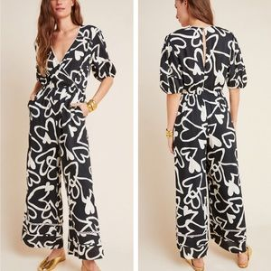 Anthropologie Farm Rio Sinead Hearts Jumpsuit